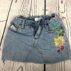 💛Girls Blue Jean Floral Skort  💛